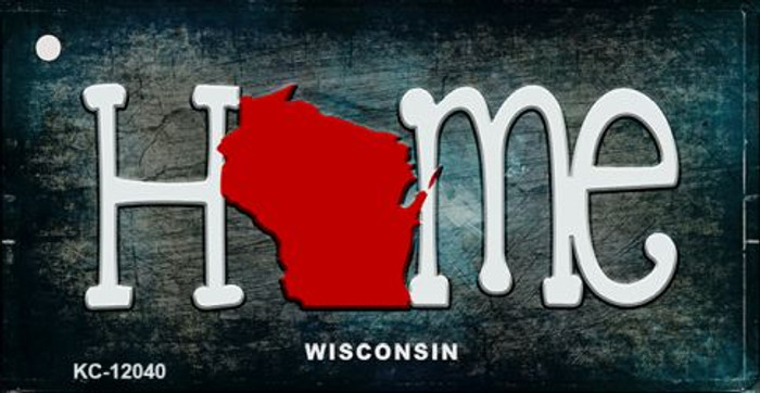 Wisconsin Home State Outline Wholesale Novelty Key Chain KC-12040