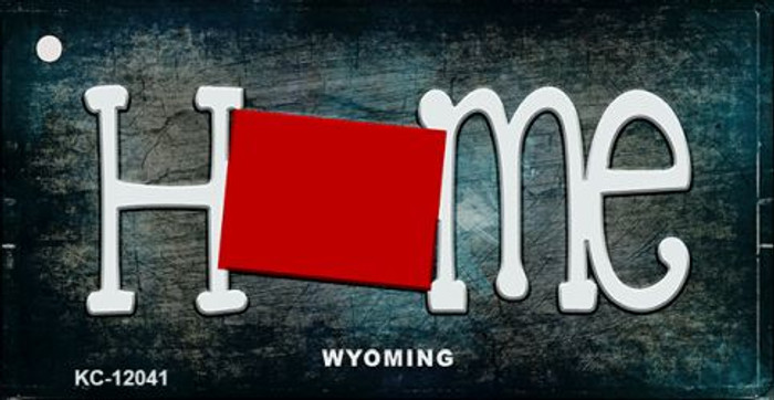 Wyoming Home State Outline Wholesale Novelty Key Chain KC-12041