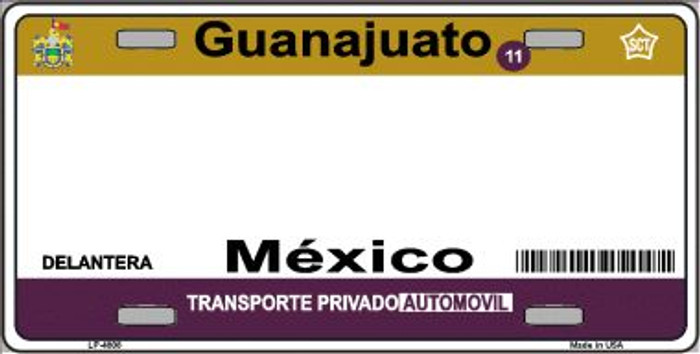 Guanajuato Mexico Novelty Background Wholesale Metal License Plate LP-4808