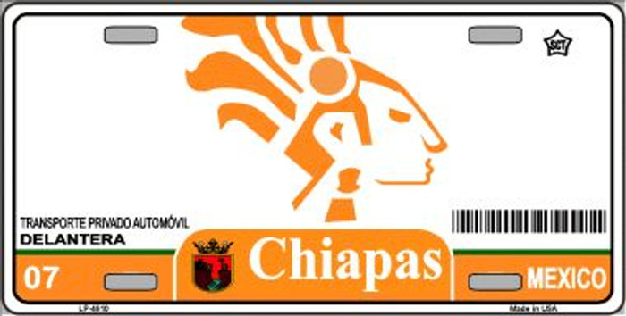 Chiapas Mexico Novelty Background Wholesale Metal License Plate LP-4810