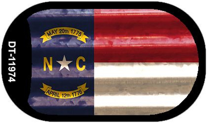 North Carolina Corrugated Flag Wholesale Novelty Dog Tag Necklace DT-11974