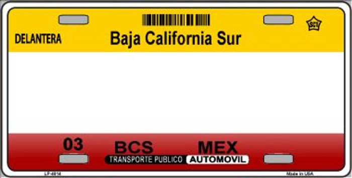 Baja California Sur Novelty Background Wholesale Metal License Plate LP-4814