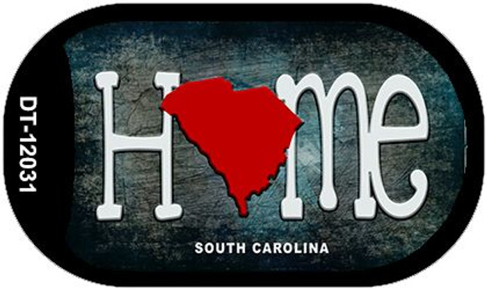 South Carolina Home State Outline Wholesale Novelty Dog Tag Necklace DT-12031