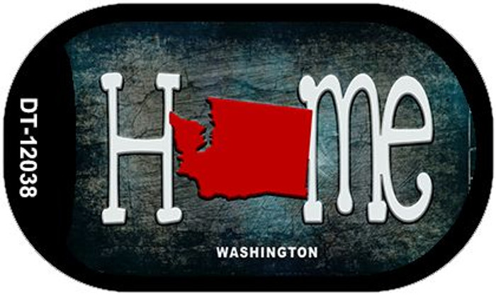 Washington Home State Outline Wholesale Novelty Dog Tag Necklace DT-12038
