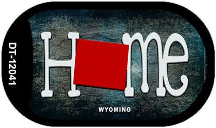 Wyoming Home State Outline Wholesale Novelty Dog Tag Necklace DT-12041