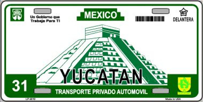 Yucatan Mexico Novelty Background Wholesale Metal License Plate LP-4818