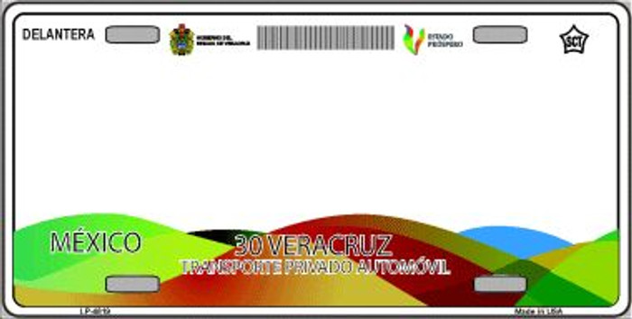 Veracruz Mexico Novelty Background Wholesale Metal License Plate LP-4819