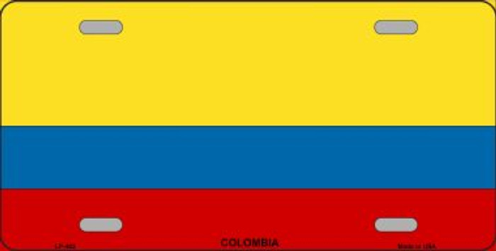 Colombia Flag Wholesale Metal Novelty License Plate LP-482