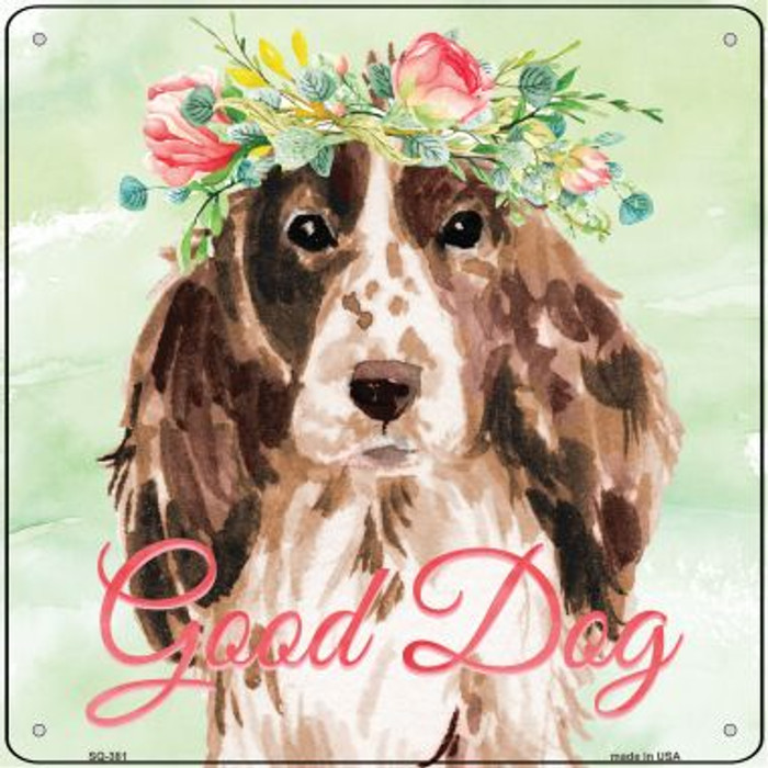 Cocker Spaniel Good Dog Wholesale Novelty Square Sign SQ-381