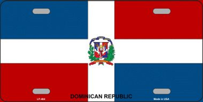 Dominican Republic Flag Wholesale Metal Novelty License Plate LP-484