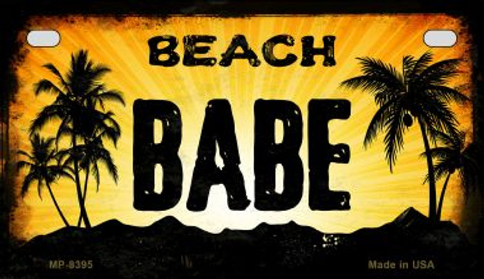Beach Babe Wholesale Metal Novelty Motorcycle License Plate MP-8395
