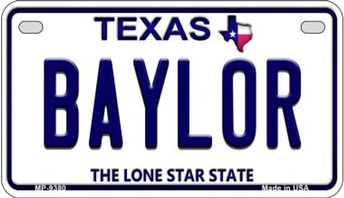 Baylor Texas Background Novelty Wholesale Metal Motorcycle License Plate MP-9380
