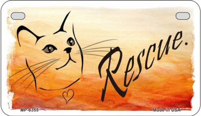 Rescue Cat Wholesale Metal Novelty Motorcycle License Plate MP-8355