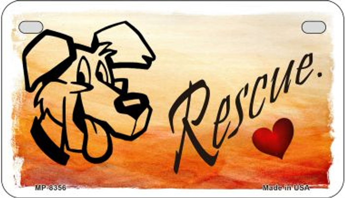 Rescue Dog Wholesale Metal Novelty Motorcycle License Plate MP-8356