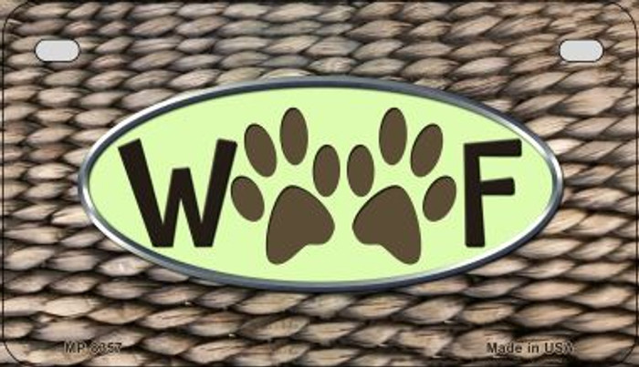 Woof Wholesale Metal Novelty Motorcycle License Plate MP-8357