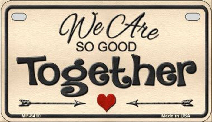 We Are So Good Together Wholesale Metal Novelty Motorcycle License Plate MP-8410