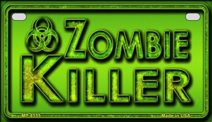 Zombie Killer Wholesale Metal Novelty Motorcycle License Plate MP-8555