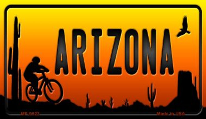Biker Arizona Scenic Background Novelty Wholesale Metal Motorcycle License Plate MP-9522