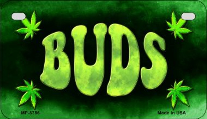 Buds Wholesale Metal Novelty Motorcycle License Plate MP-8756