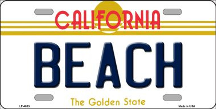 Beach California Novelty Wholesale Metal License Plate LP-4883