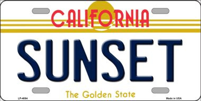Sunset California Novelty Wholesale Metal License Plate LP-4884