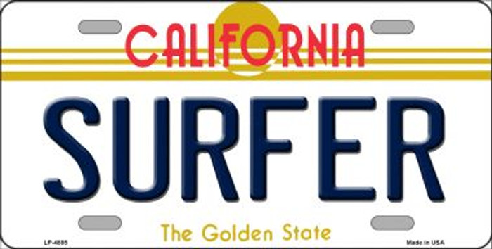 Surfer California Novelty Wholesale Metal License Plate LP-4885