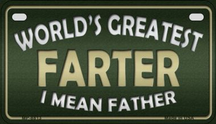 Greatest Farter Wholesale Metal Novelty Motorcycle License Plate MP-8813