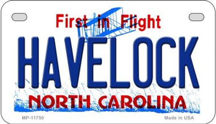 Havelock North Carolina Wholesale State Motorcycle License Plate MP-11750