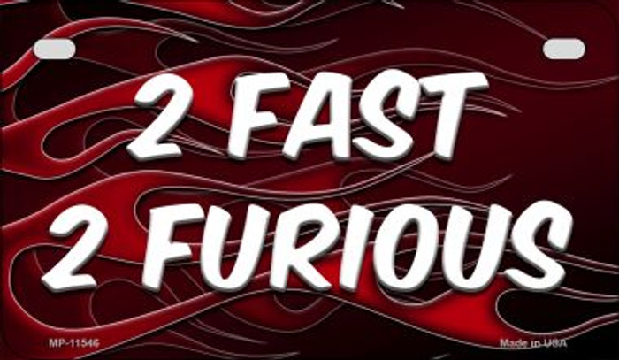 2 Fast 2 Furious Wholesale Novelty Motorcycle License Plate MP-11546