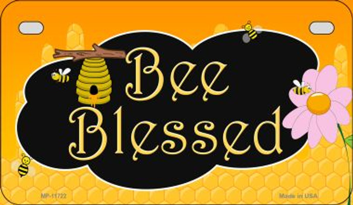 Bee Blessed Honey Hive Wholesale Novelty Motorcycle License Plate MP-11722