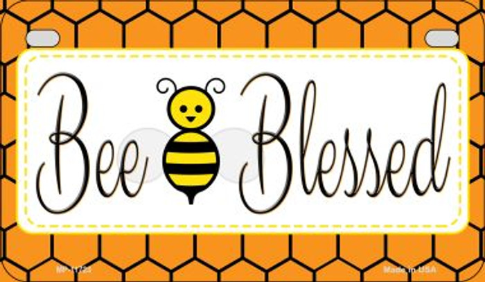 Bee Blessed Simple Wholesale Novelty Motorcycle License Plate MP-11723