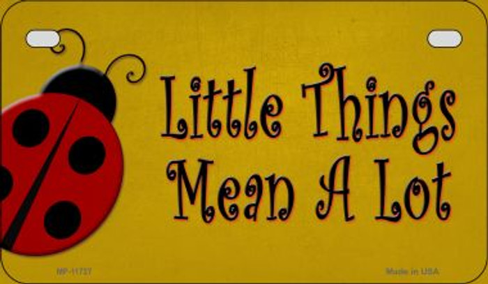 Little Things Mean A Lot Wholesale Novelty Motorcycle License Plate MP-11727