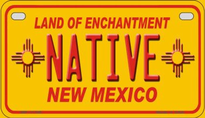 Native New Mexico Yellow Wholesale State Motorcycle License Plate MP-11735