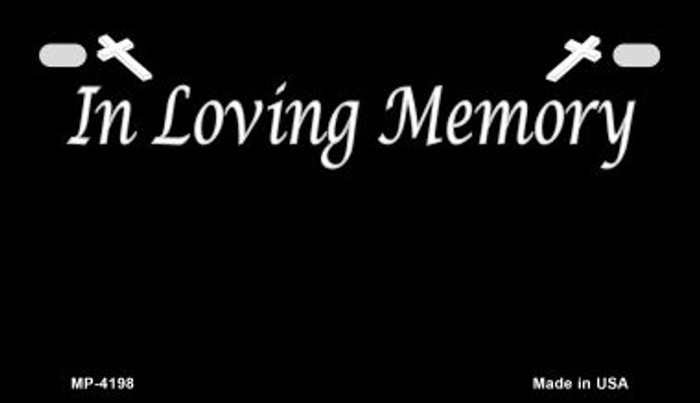 In Loving Memory Black Background Wholesale Metal Novelty Motorcycle License Plate MP-4198