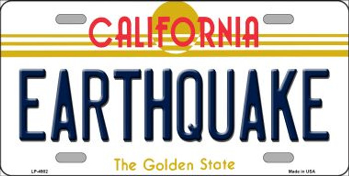 Earthquake California Novelty Wholesale Metal License Plate LP-4902