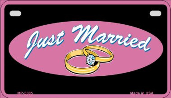 Just Married Wholesale Novelty Metal Novelty Motorcycle License Plate MP-5005