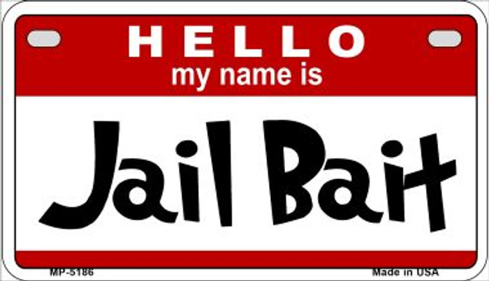 Jail Bait Wholesale Metal Novelty Motorcycle License Plate MP-5186