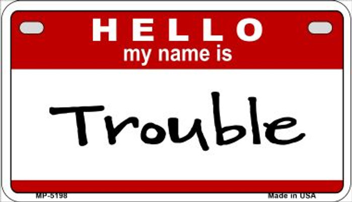 Trouble Wholesale Metal Novelty Motorcycle License Plate MP-5198