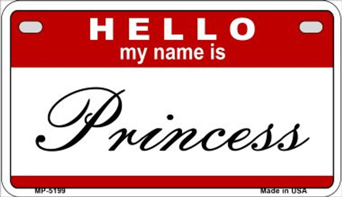 Princess Wholesale Metal Novelty Motorcycle License Plate MP-5199