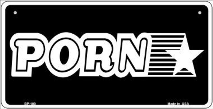 Porn Star Novelty Wholesale Metal Bicycle License Plate BP-109
