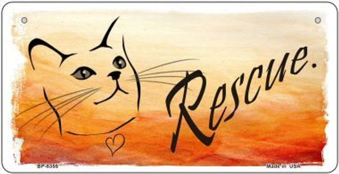 Rescue Cat Wholesale Metal Novelty Bicycle License Plate BP-8355