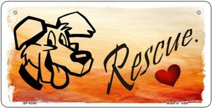 Rescue Dog Wholesale Metal Novelty Bicycle License Plate BP-8356