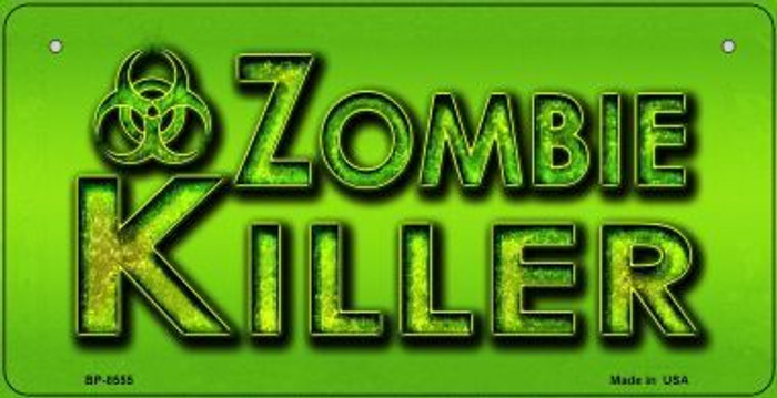 Zombie Killer Wholesale Metal Novelty Bicycle License Plate BP-8555