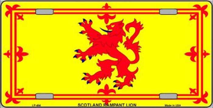 Scotland Lion Flag Wholesale Metal Novelty License Plate LP-494