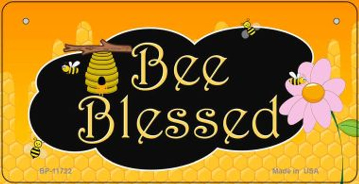 Bee Blessed Honey Hive Wholesale Novelty Bicycle License Plate BP-11722
