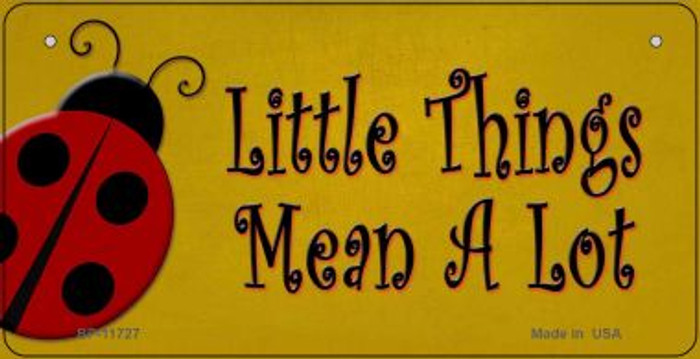 Little Things Mean A Lot Wholesale Novelty Bicycle License Plate BP-11727