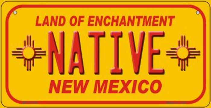 Native New Mexico Yellow Wholesale State Bicycle License Plate BP-11735