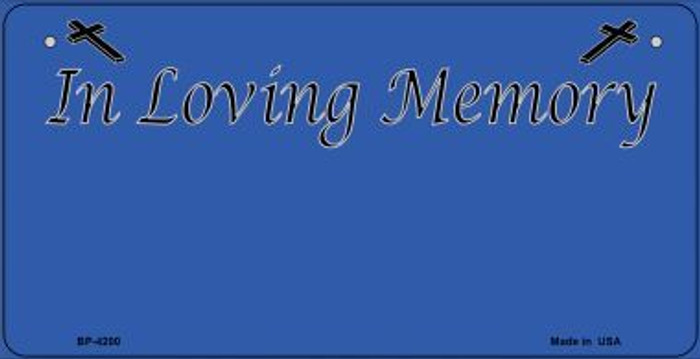 In Loving Memory Blue Background Wholesale Metal Novelty Bicycle License Plate BP-4200