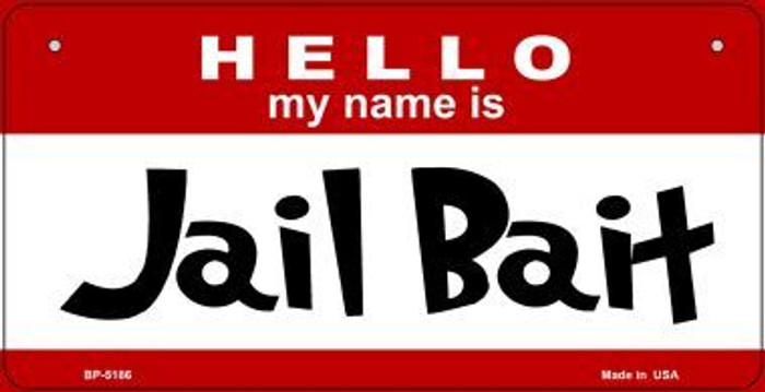 Jail Bait Wholesale Metal Novelty Bicycle License Plate BP-5186