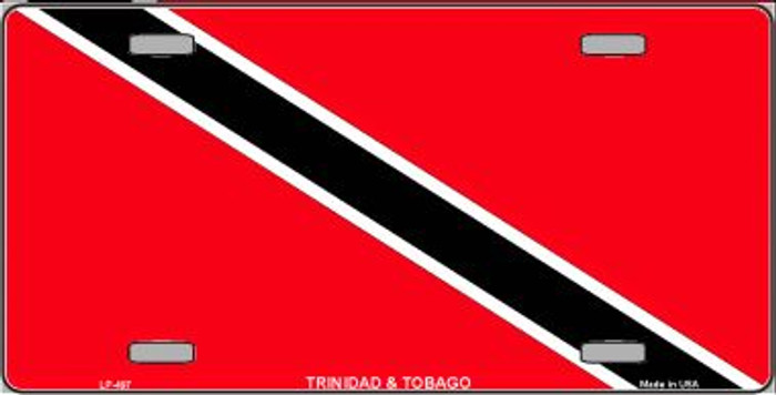Trinidad Tobago Flag Wholesale Metal Novelty License Plate LP-497